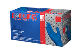 Gloveworks HD GWRBN Royal Blue Nitrile Industrial Latex Free Disposable Gloves box