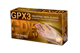 AMMEX GPX3 Clear Vinyl Industrial Disposable Gloves Box