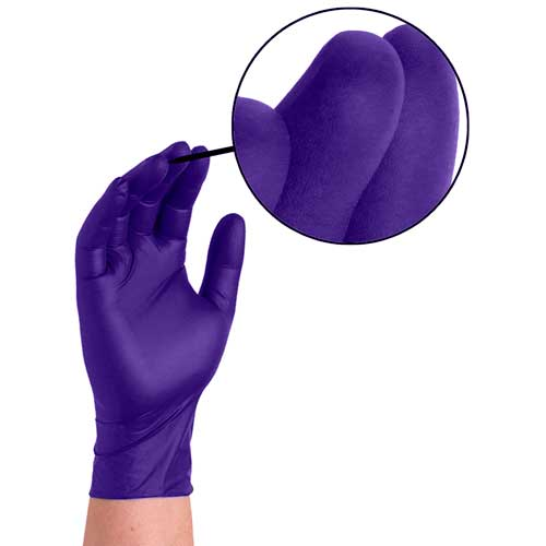 Ammex APFN Nitrile Disposable Gloves texture close-up